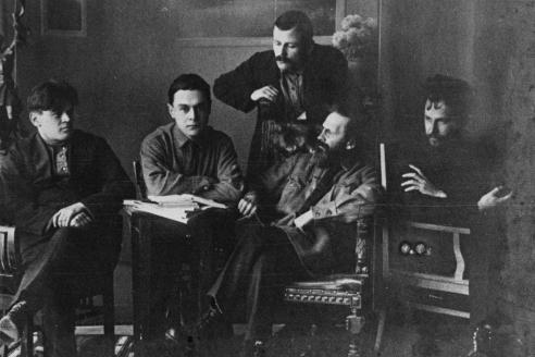 Редакция «Сибирских огней»: Д. Тумаркин, В. Итин, М. Басов, В. Вегман, В. Зазубрин. 1922-1923 гг.