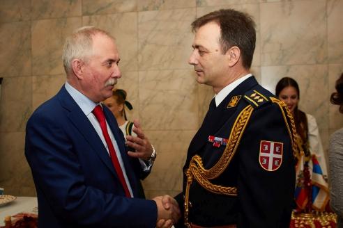 Генеральный директор МР Н.А. Кузнецов и Атташе по вопросам обороны Республики Сербии полковник Будимир Гайич, 15 февраля 2018 года