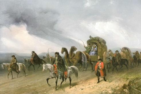 «Татары, путешествующие по степи». К. Боссоли