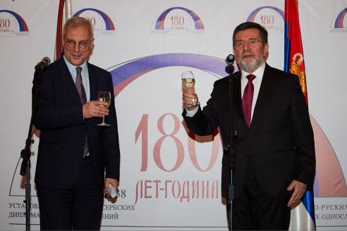 Зам. министра иностранных дел РФ А.В. Грушко и посол Сербии Славенко Терзич, 15 февраля 2018 года