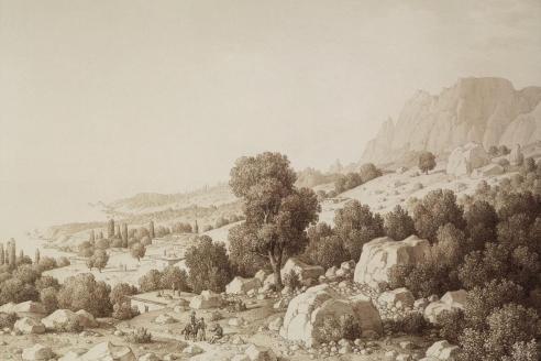 «Вид долины близ деревни Мшатка». К. фон Кюгельген