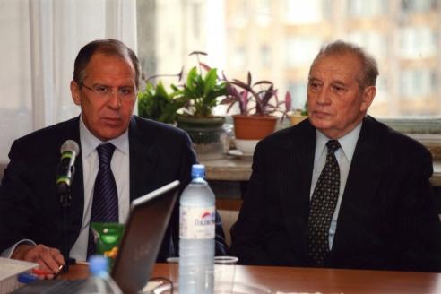 С министром иностранных дел России С.В. Лавровым