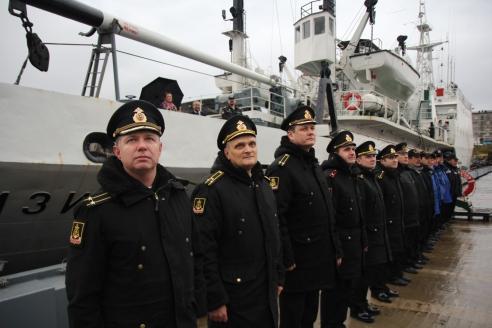 Гидрографы Северного флота ожидают прибытия судна «Сенеж» из арктического похода