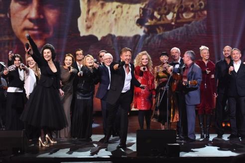 На церемонии вручения премии имени В.С. Высоцкого «Своя колея» в Театре на Таганке. 2016 г.