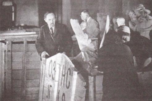 Упаковка вещей в Эрмитаже. 1941 г.