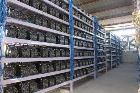 Майнинг-ферма для добычи криптовалют