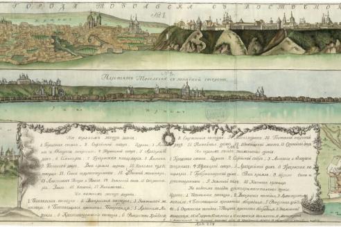 Панорама Тобольска. 1750 г.