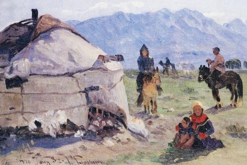«Кочевье в горах». Г.И. Гуркин