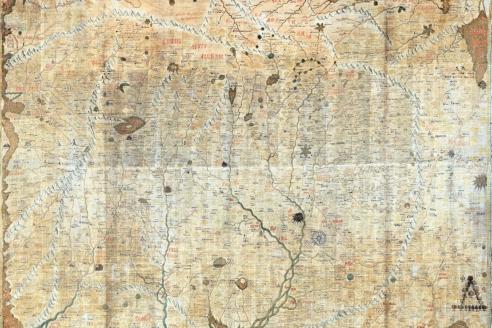 Карта из «Хорографической книги Сибири» С. Ремезова. 1696–1711 гг.