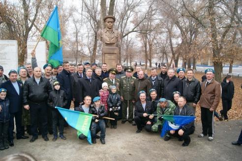 Открытие бюста В.Ф. Маргелова в Октябрьском районе Волгоградской области