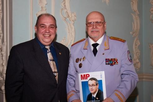 Д.А.Сурмило и А.Г. Михайлов на церемонии вручения высших адвокатских наград имени Ф.Н. Плевако, 26 апреля 2018 года