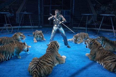 Артур Багдасаров на арене цирка