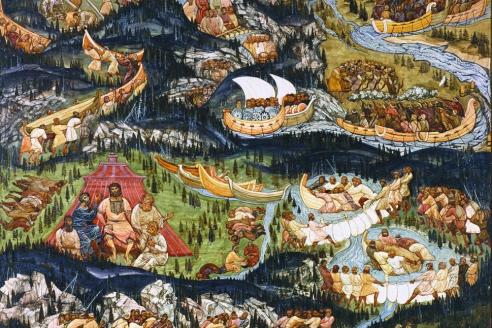 «Переход по уральским рекам в Сибирь». П.Ф. Шардаков