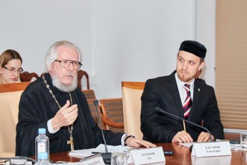 Протоиерей Лев Семенов и Хасанов Али-хазрат, 28 марта 2018 года