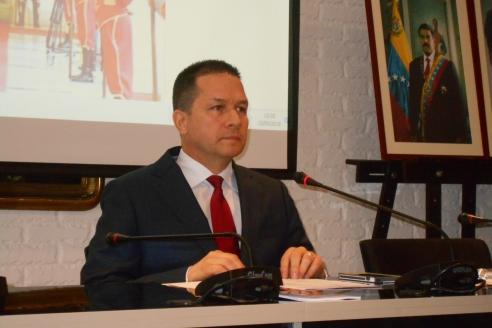 Чрезвычайный и Полномочный Посол Боливарианской Республики Венесуэлы в России Карлос Рафаэль Фариа Тортоса, 23 мая 2018 года