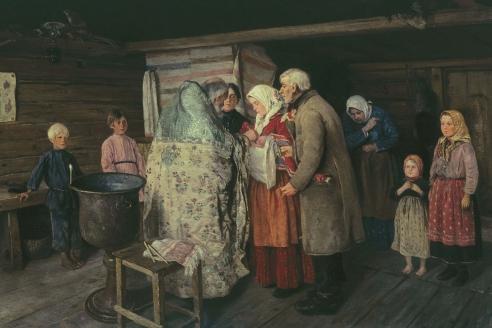 «Крестины». П.И. Коровин