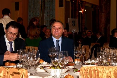 А.Н. Горбенко и В.А. Пучков на торжественном приеме по случаю Дня российской печати, 19 января 2018 года