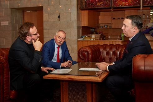 А.А. Бардиж, Н.А. Кузнецов, С.Рапич, 15 февраля 2018 года