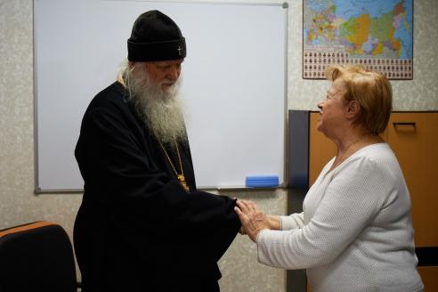 Архиепископ Михаил и Л.В.Щербина, 6 декабря 2017 года