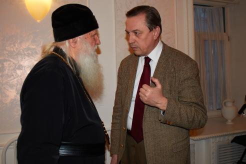 Архиепископ Михаил и Б.В.Костенко, 6 декабря 2017 года