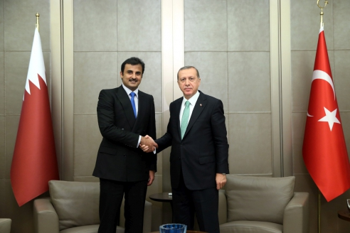 Эмир Катара шейх Тамим бин Хамад Аль Тани с президентом Турции Реджепом Эрдогано