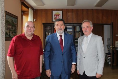 Д.А. Сурмило, г-н Славенко Терзич, Н.А. Кузнецов, 26 июля 2018 года