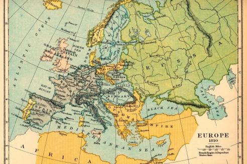 После победы России в войне с Наполеоном, Европа разделена Венским конгрессом (1815-1816)
