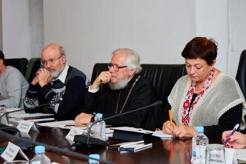В. Тимаков, протоиерей Л. Семёнов, И. Семко (Беларусь)