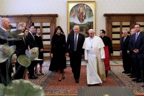 Встреча Д. Трампа и Папы Римского Франциска. 2017 г.