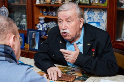 Герой Советского Союза вице-адмирал Р.А. Голосов, 9 марта 2018 года
