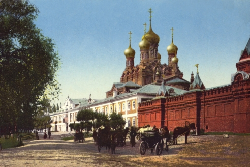 Черниговский монастырь (Литография)