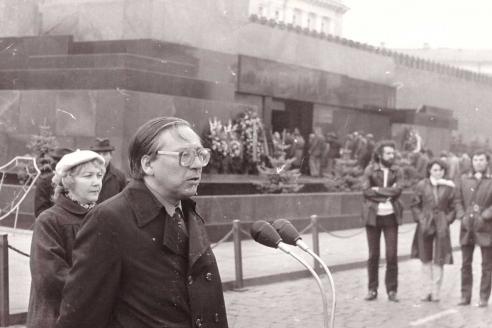 Посвящение в журналисты на Красной площади. 1980-е гг.