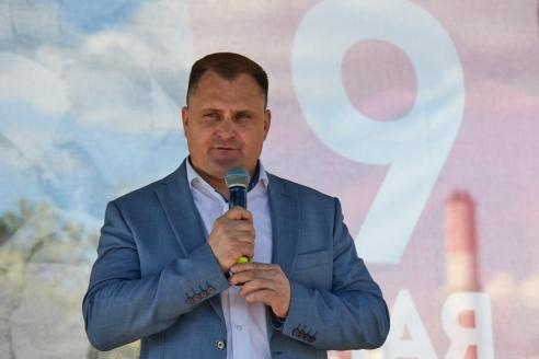 Глава управы района Северное Измайлово Д.Д. Дятленко, 8 мая 2018 года