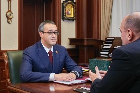 Председатель Московской городской Думы А.В.Шапошников и Д.А.Сурмило, 30 октября 2017 года