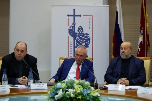 Д.А.Сурмило, Н.А.Кузнецов, Ф.Г.Драгой, 1 ноября 2017 года