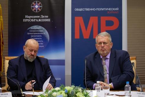 Ф.Г. Драгой и Управляющий партнёр Центра проектирования будущего Народного Дела «Преображение» С.А. Нехаев