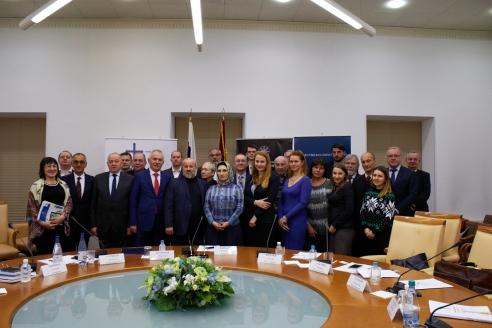 Участники международного круглого стола. Московский дом национальностей, 1 ноября 2017 года