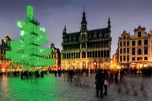 Новогодняя ёлка в Брюсселе. 2013 г