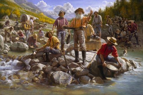 Золотая лихорадка — неорганизованная массовая добыча золота на новооткрытых месторождениях