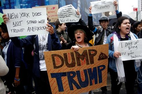 Выступления против Трампа