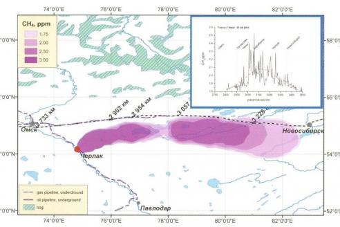 Шлейф природного газа от мест ремонта газотранспортной системы (TROICA-7)