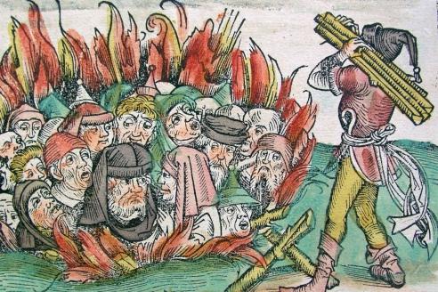 Сожжение евреев (Liber Chronicarum, 1493)