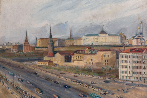 «Вид на Кремль». А.А. Лабас