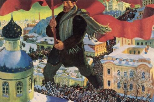 «Большевик». Б. Кустодиев