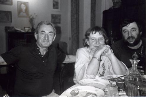 П. Лунгин с родителями