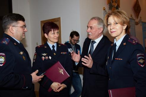 Н.А. Кузнецов с сотрудниками Московского университета МВД России имени В.Я. Кикотя, 20 февраля 2018 года