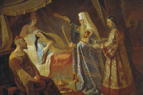 «Святитель Алексий исцеляет ханшу Тайдулу». Я.Ф. Капков
