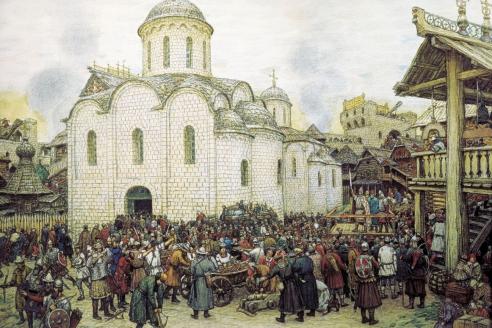 «Оборона Москвы от хана Тохтамыша в 1382 году». А.М. Васнецов