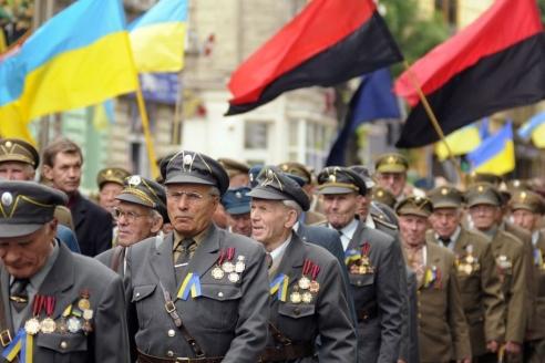 Парад ветеранов ОУН-УПА на Украине