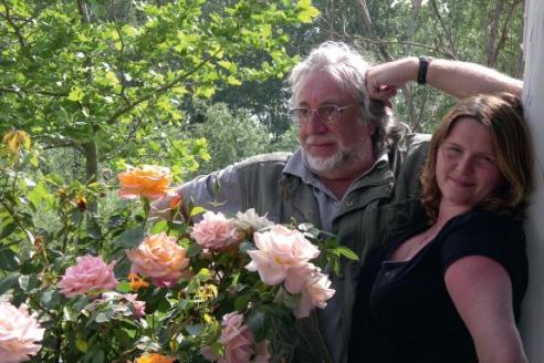 Юрий Кублановский с женой Натальей Поленовой. Прованс. 2007 г.